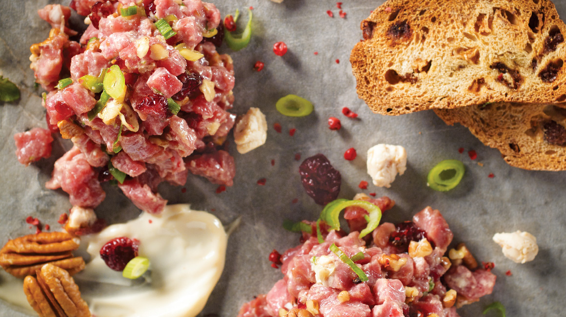Holiday-style beef tartare