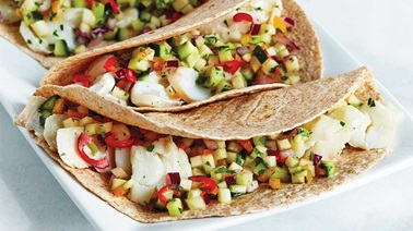 Fish tacos and summertime salsa