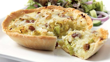Leek and cabbage tartlets