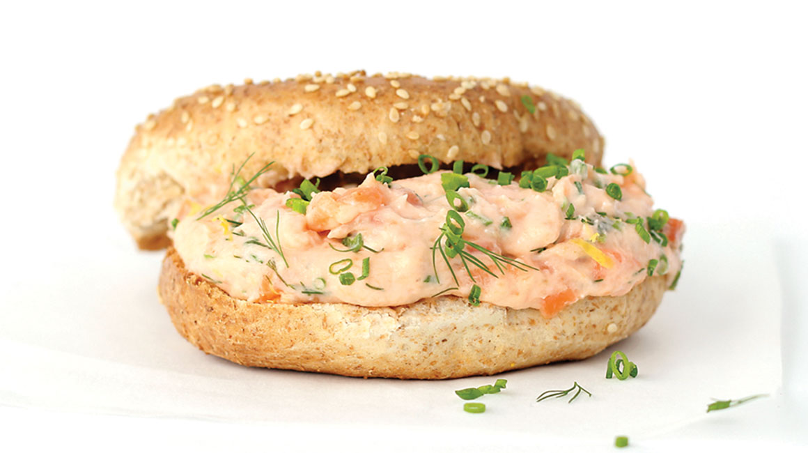 Creamy smoked trout and herb spread