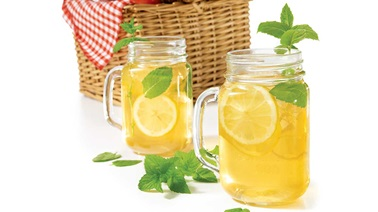 Lemon-ginger iced tea