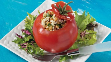 Stuffed Tomatoes with Lentils