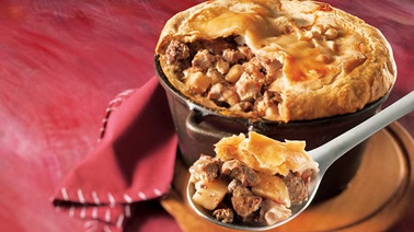 Game meat tourtière