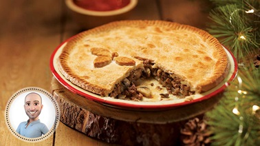 Holiday mushroom tourtière from Stefano Faita