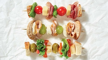 Skewer sandwich trio