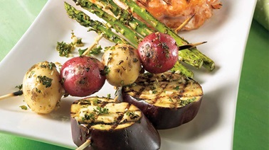Barbecue vegetable trio