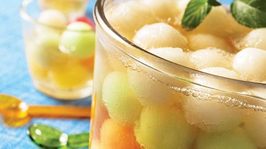 Melon and sparkling wine verrine