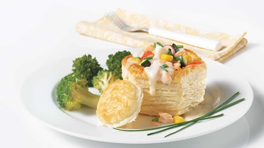Crab and salmon vol-au-vents