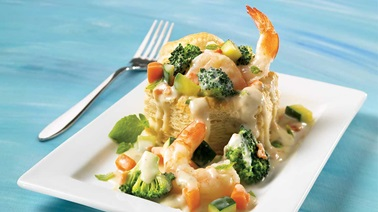 Shrimp vol-au-vent