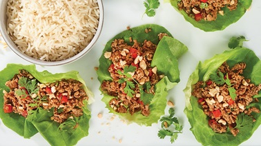 Sweet & Sour Chicken in Lettuce Wraps