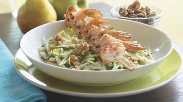 Apple and Pear Salad with Chili Lime Shrimp