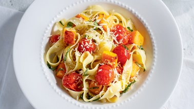 Squash and Roasted Tomato Pappardelle from Ricardo