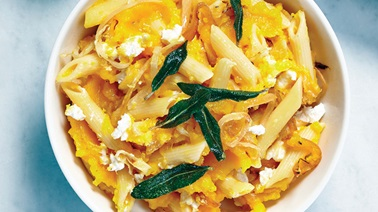 Butternut squash and pasta bake