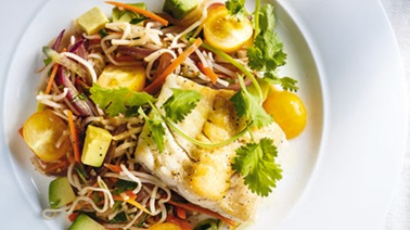 Grilled Fish and Veggie Noodle Salad from Ricardo