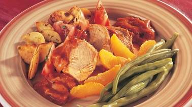 Roast Veal with Orange and Tomato