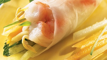 Two-Melon Spring Rolls