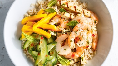 Grilled Shrimp and Tofu Rice Bowls from Ricardo