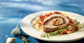 Stuffed Veal Roast with sundried tomatoes and basil