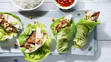 Beef and Pear Lettuce Wraps from Ricardo