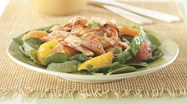 Honey and Citrus Glazed Salmon Salad
