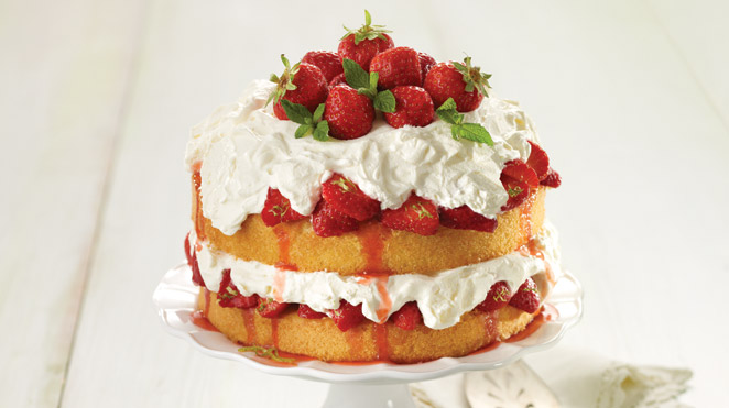 Strawberry-lime shortcake with mascarpone cream | IGA recipes ...
