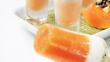 Trio of Frozen Papaya Pops