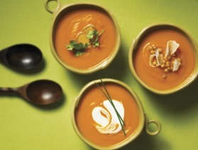 Puréed Carrot Soup Three Ways