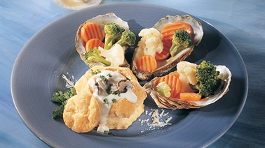 Oysters in puff pastry