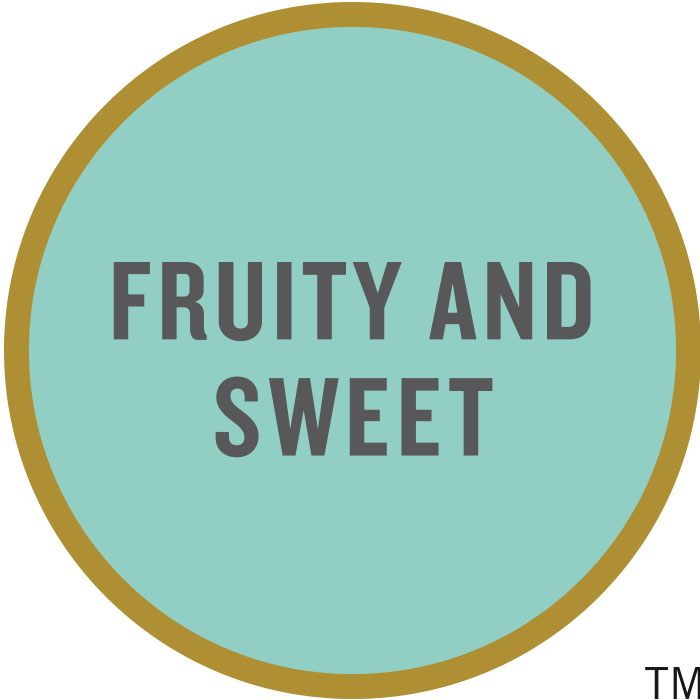 Fruity and sweet