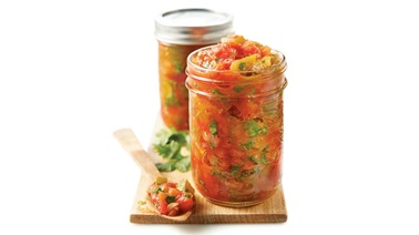 Canned tomato salsa