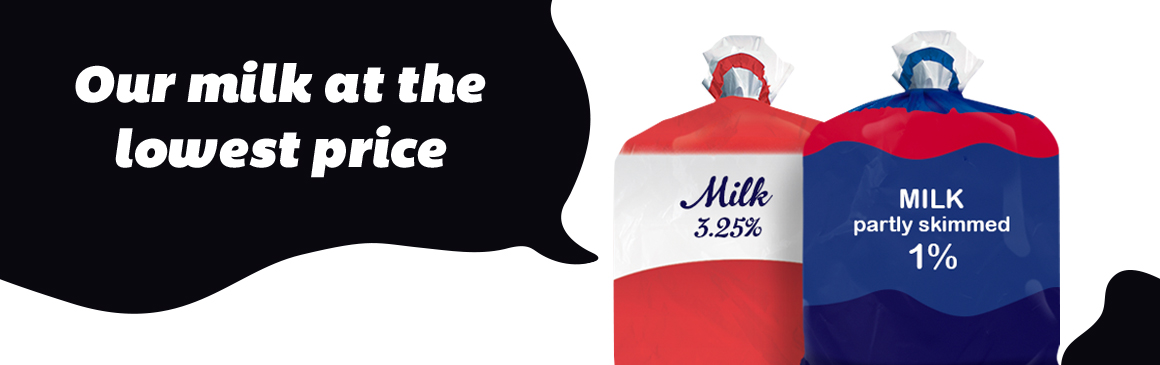 Our milk at the lowest price
