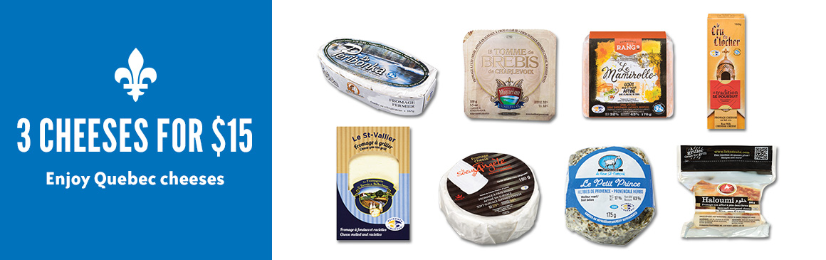 3 CHEESES FOR $15