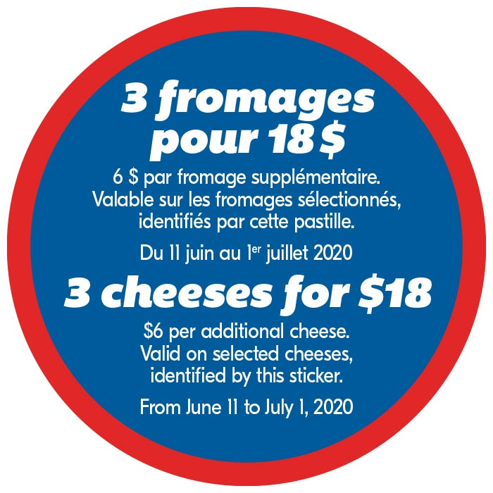 3 fromages pour 18$